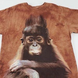 Vintage Tie Dye Monkey Milwaukee Zoo T-Shirt